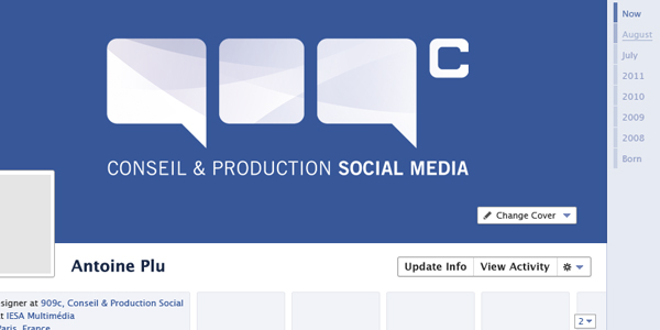 Facebook Timeline GUI Preview