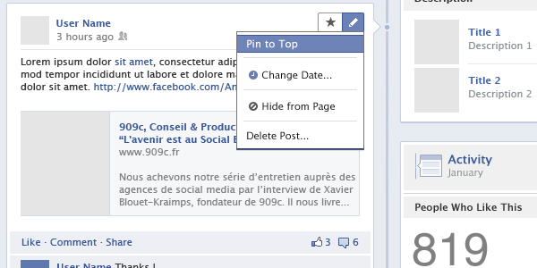 Facebook Pages GUI