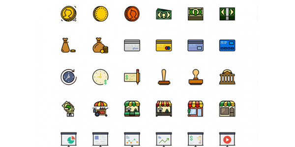 170-retro-business-icons-sketch