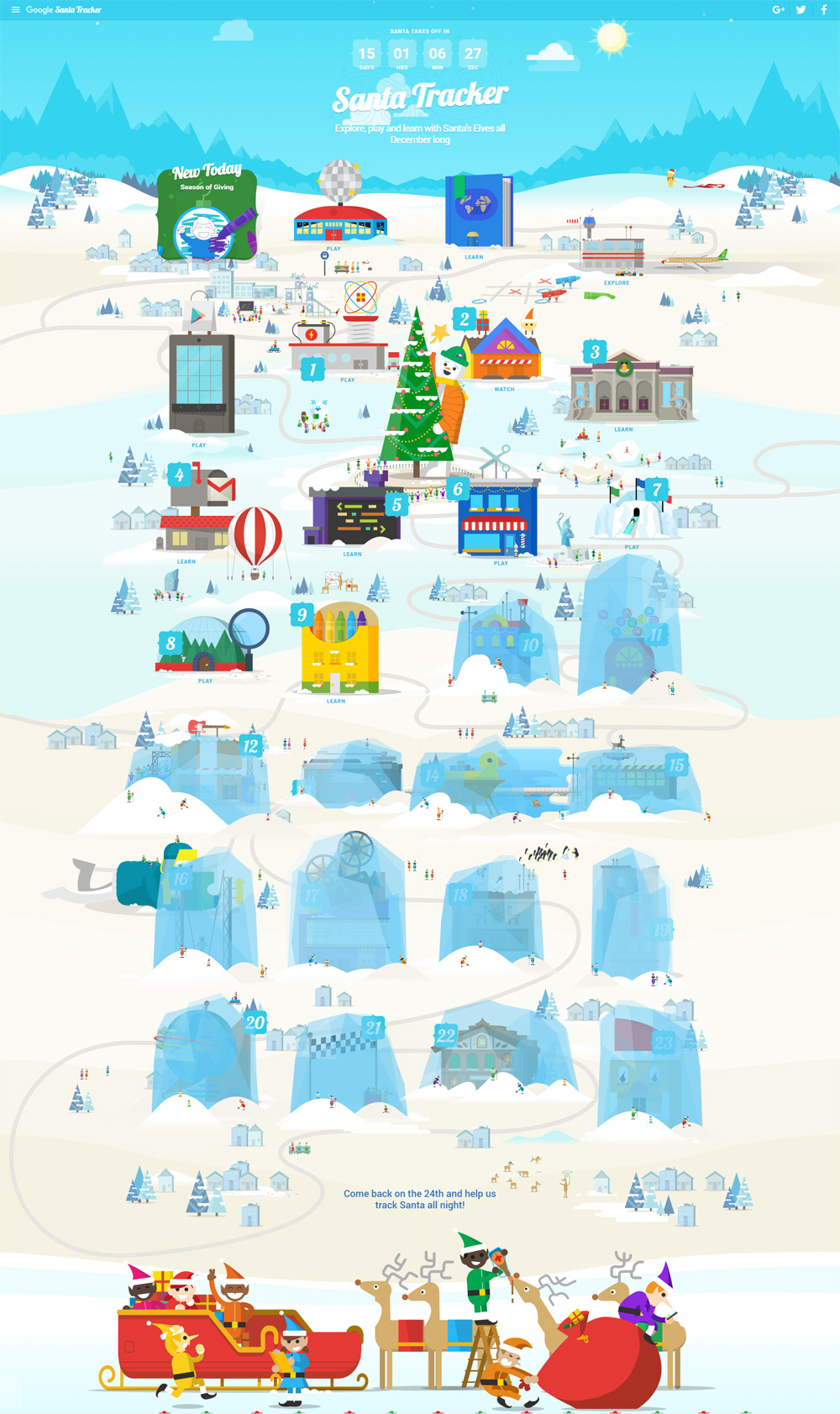 santatracker village google