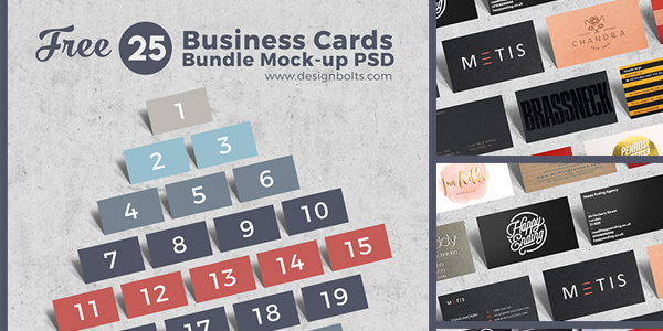 Free-Business-Cards-Bundle-Mock-up