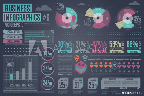business-infographic-elements-charts-tables-graphs-template-data-diagram-and-rating-layout-vector-illustration