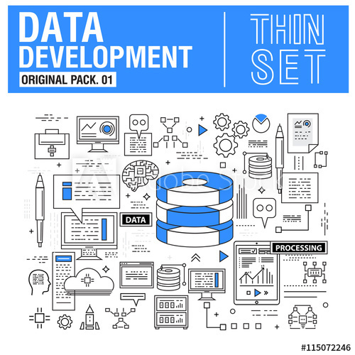 new-modern-thin-line-icons-set-development-data-analysis