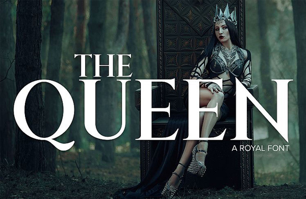 FREE-FONT-The-Queen
