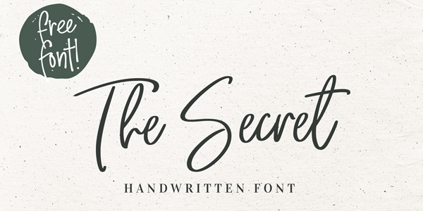 The-Secret-Free-Handwritten-Font