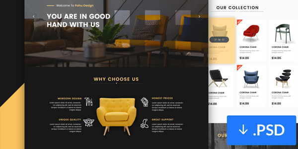 Freebie-PSD-Interior-Design-Website-Template
