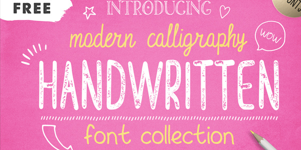 FREE-FONTS-Handwritten-Font-Collection