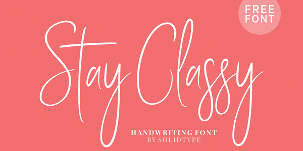 Stay-Classy-Free-Font