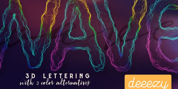 FREE-Wave-3D-Lettering