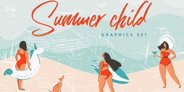 summer-child-graphics-set