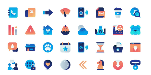 free-gradient-flat-icons