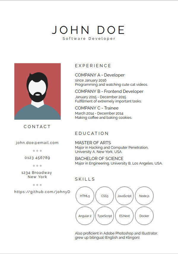 best resume ever  des templates originales en vue js pour