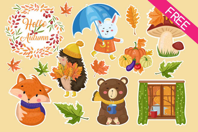 free-autumn-stickers
