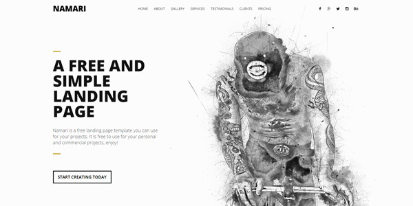 free-landing-page-template