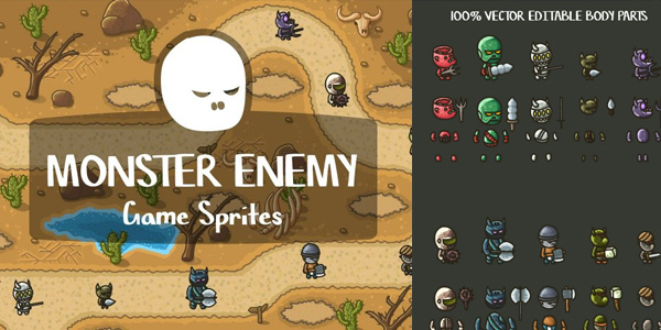 free-monster-enemy-game-sprites
