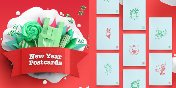 free-new-year-postcards