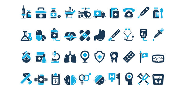50-medical-set-icon-free-download