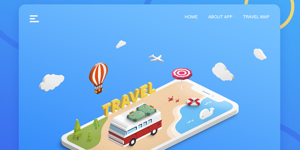 Travel-Landing-Free-PSD