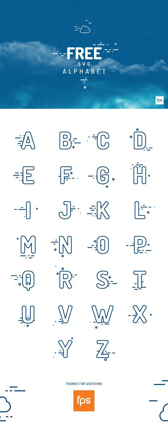 Free SVG Alphabet par fps agency - 09