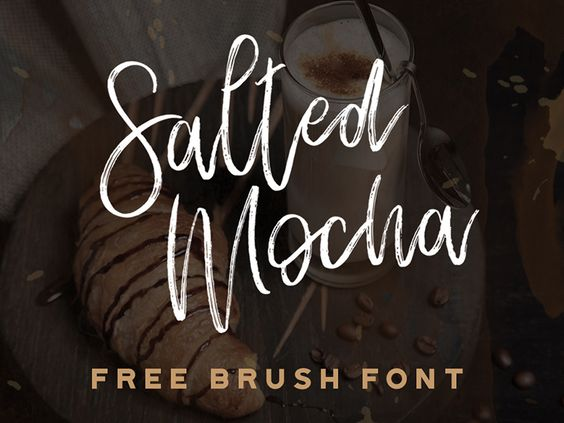 Salted Mocha - Free brush font par Stephanie Arsenault - 27