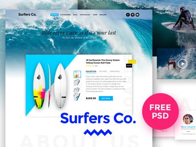 Surfers Co. FREE PSD Template par Luis Costa - 15