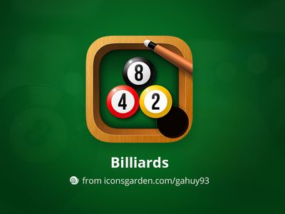 Free PSD Billiards app icon par iconsgarden - 6
