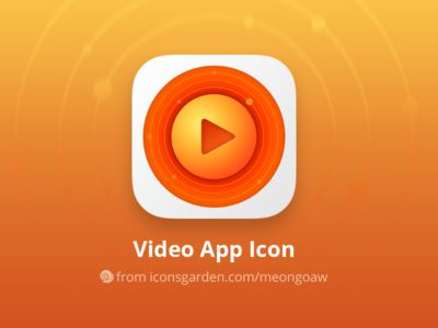 Free PSD Video app icon par iconsgarden - 13