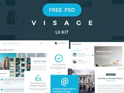 VISAGE | FREE UI Kit | 70+ Elements par Bubu Dragos - 14