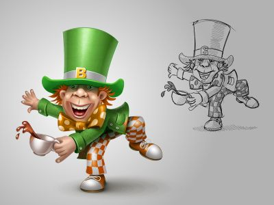 Mad Hatter on St Patricks Day for Vkontakte