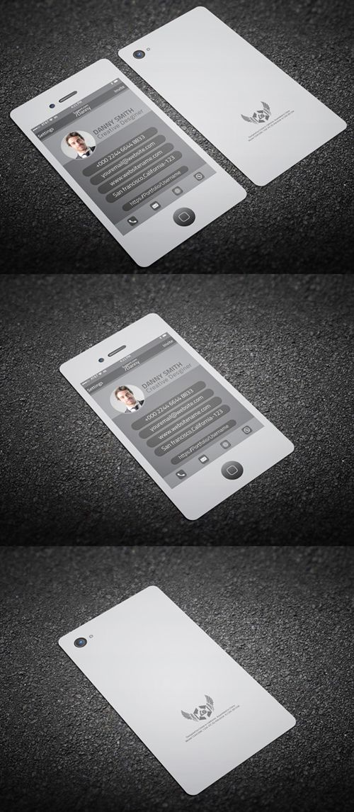 Iphone Style Business Card: