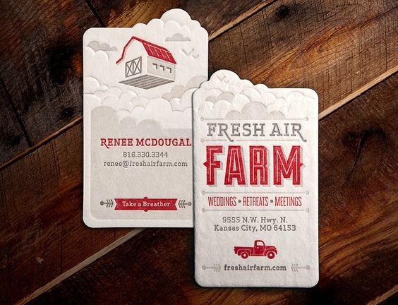 Fresh Air Farm Business Card Design Good