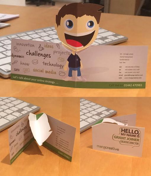 Quirky 3D Pop Up Business Card - Want to have your own infographic resume? Go to http://styleresumes.com! Like our FB page https://www.facebook.com/pages/Style-Resumes/395730460525201 and Follow our Twitter https://twitter.com/StyleResumes1 for more #ResumeTips and inspiration!: