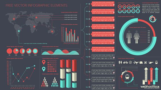 Free Vector Infofgraphic Elements Kit