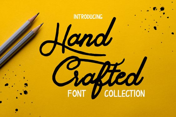 Hand Crafted Font Collection par Font Art -10