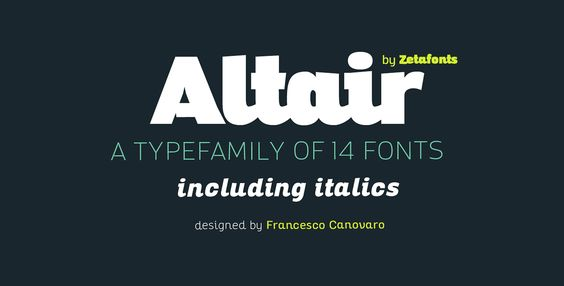 Altair Typeface Family with Free Font - 10