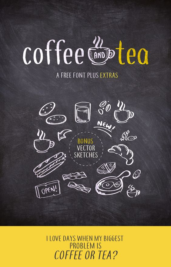 coffee and tea - A FREE font plus EXTRAS par Philip Trautmann - 12