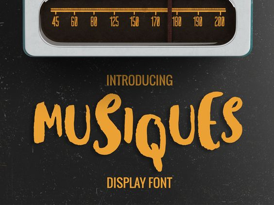 FREE Musiques Display Font 5 05