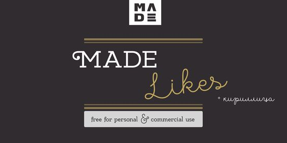 MADE Likes - Free Font (+Cyrillic) par MADE Type 01