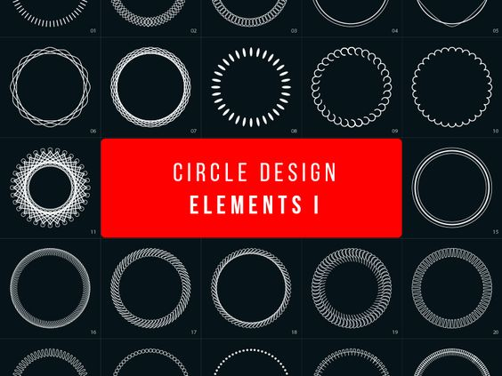 Circle Design Elements par Graphic Pear
