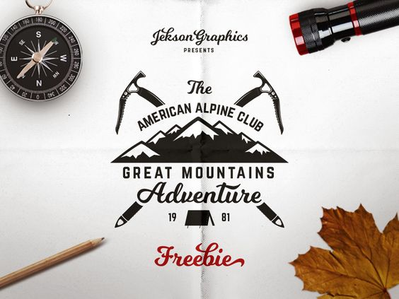 Freebie Mountain Adventure Badge par JeksonGraphics