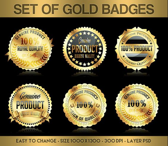 Set Of Gold Badges par Yulia Akatova