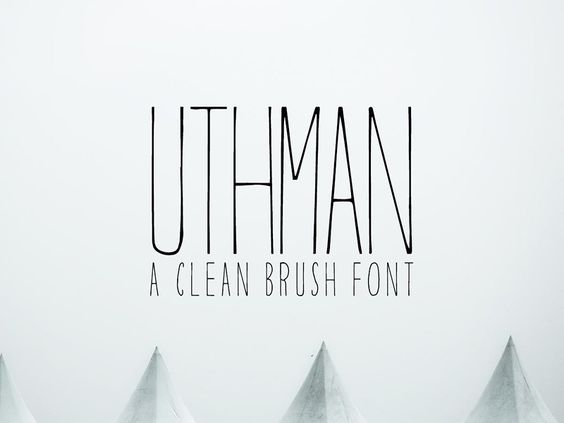 Free Uthman Brush Thin Font by CreativeTacos - 27