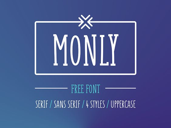 Monly Free Font by Gatis Vilaks - 24