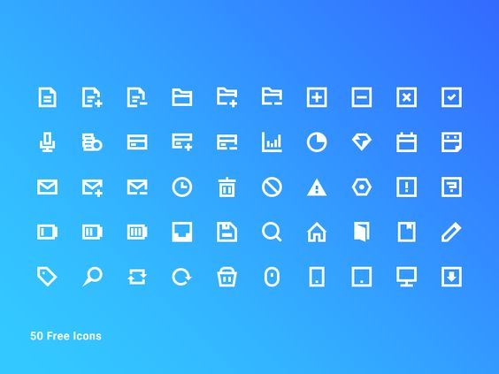 50 Free Blocky Icon Pack par Mint - 24