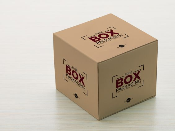 Free Box Packaging Mockup PSD Template - 05