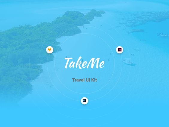 TakeMe - Free UI Kit par Web Donut - 02