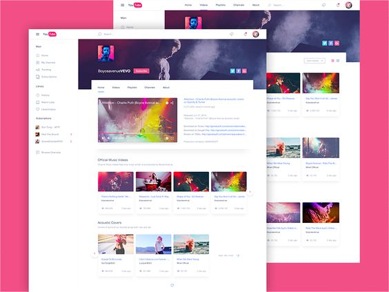 YouTube Redesign | Free PSD Download par NHLuong  - 03