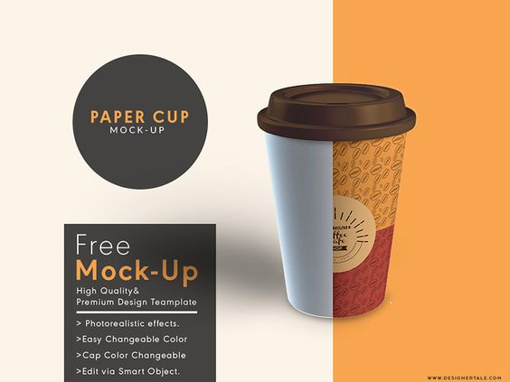Download Paper Cup Mock Up Free Psd Template - 10