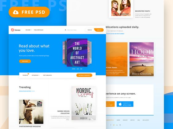 Freebie, Issuu Magazine Home Page Redesign. par Arpon Das - 03/08