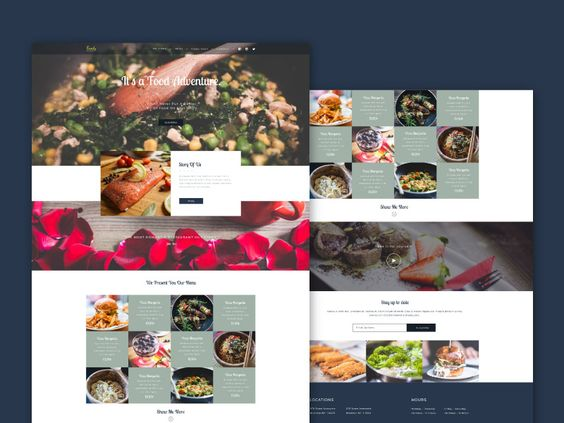 Foody - PSD Web Template For Food Business - 01/08